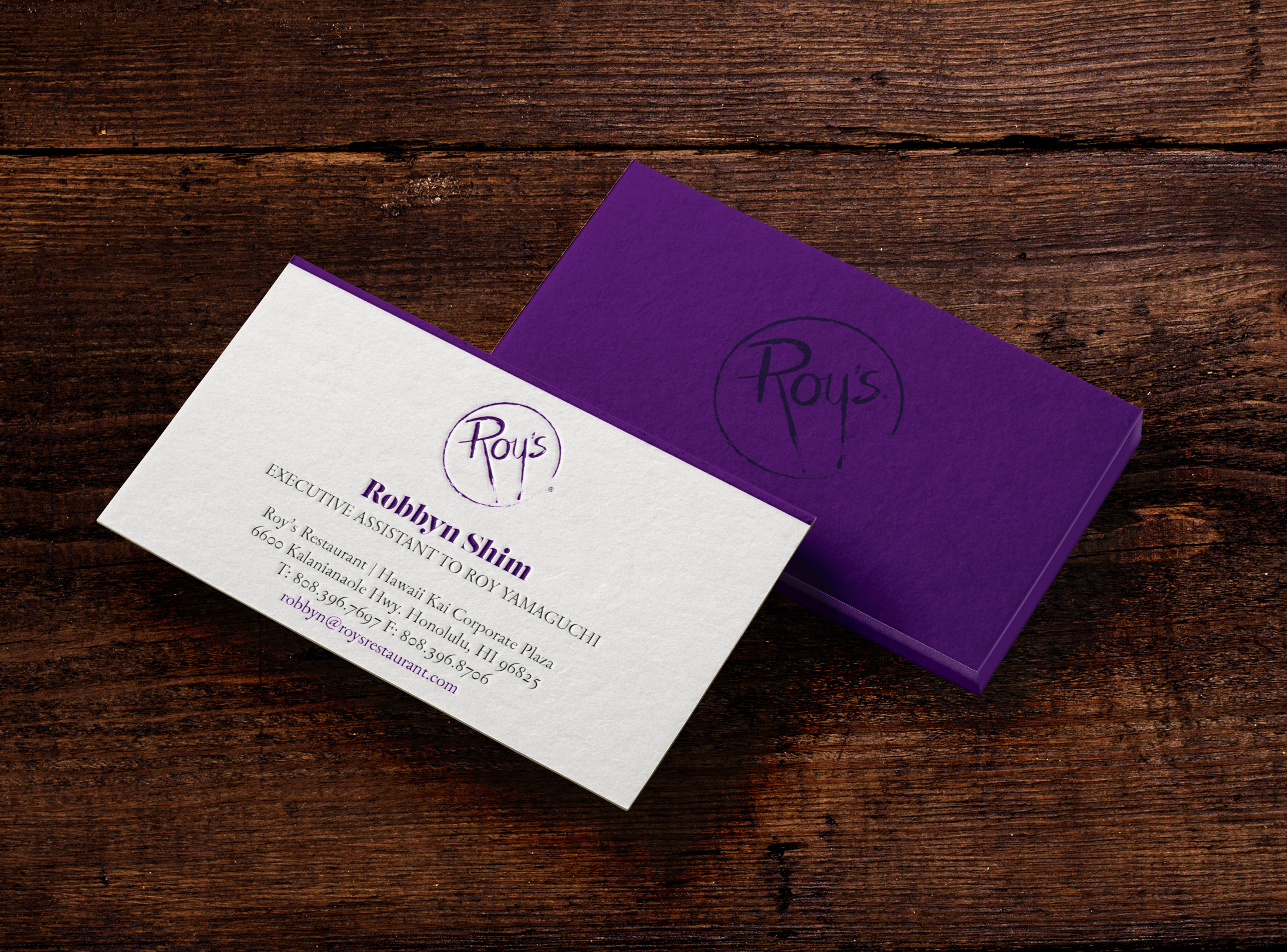 Roys business card concept hawaii graphic design business card mockupv1a reheart Gallery