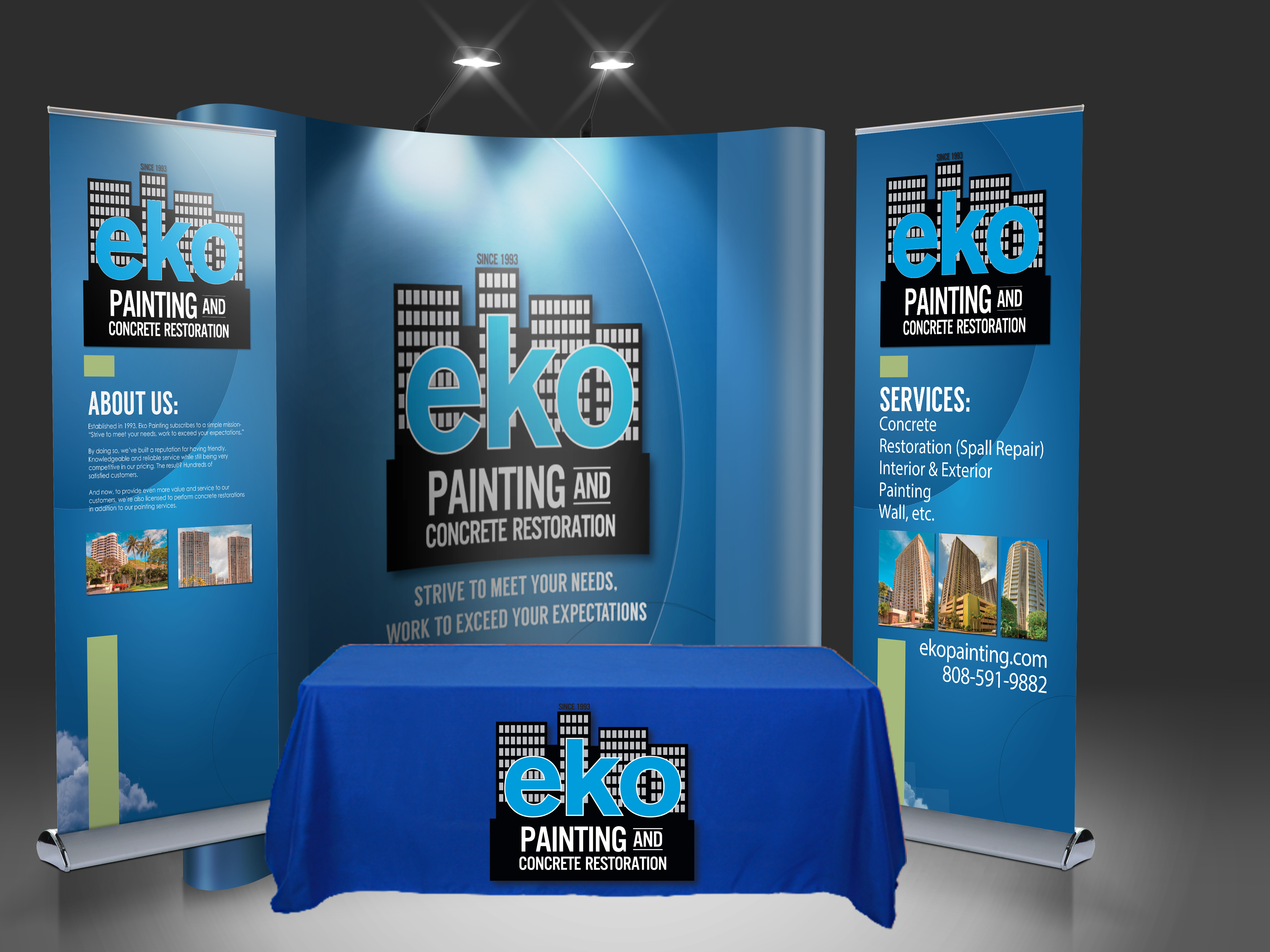 Trade Show Booth Graphic Design : Eko painting trade show booth u2013 hawaii graphic design