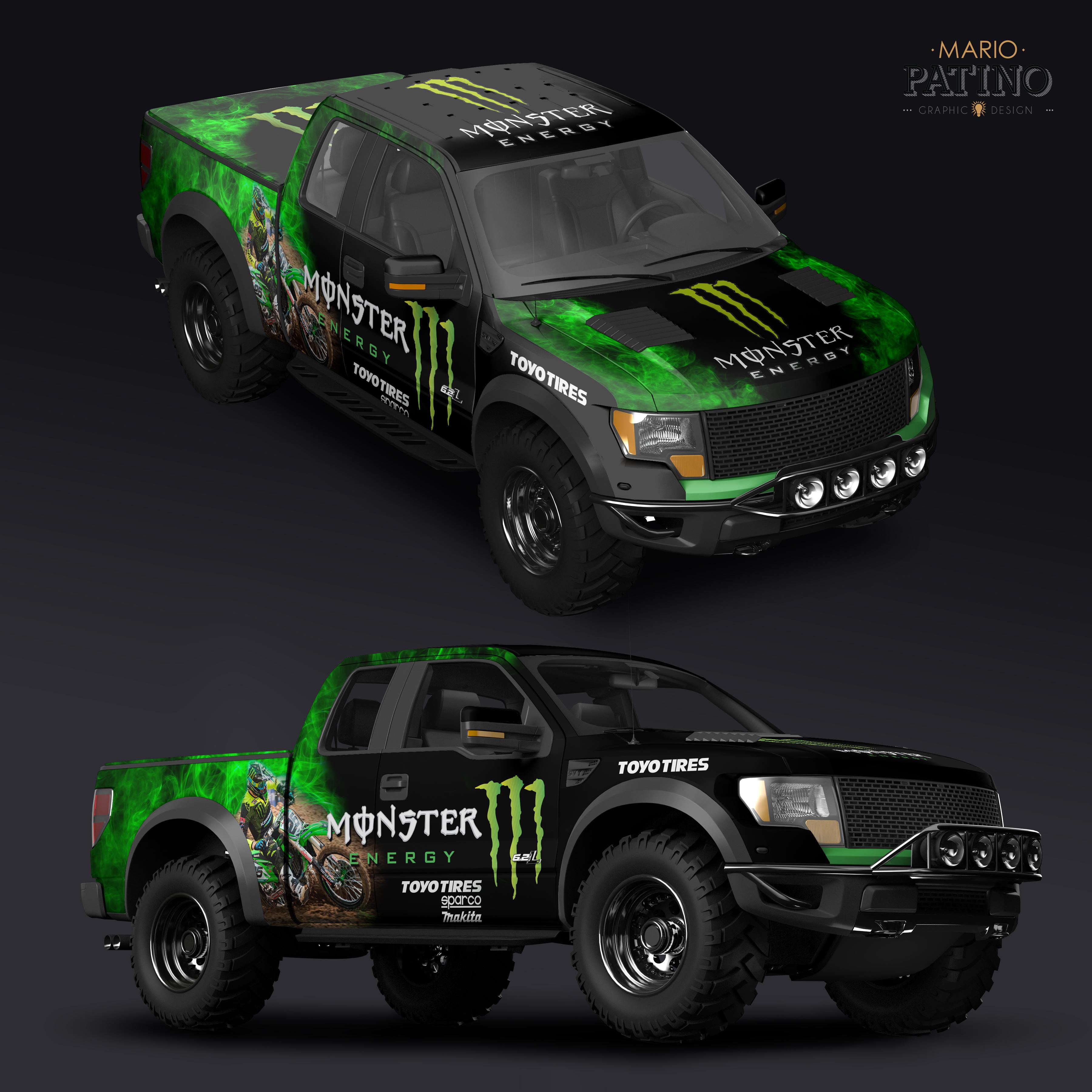 Monster Energy Truck Wrap Hawaii Graphic Design